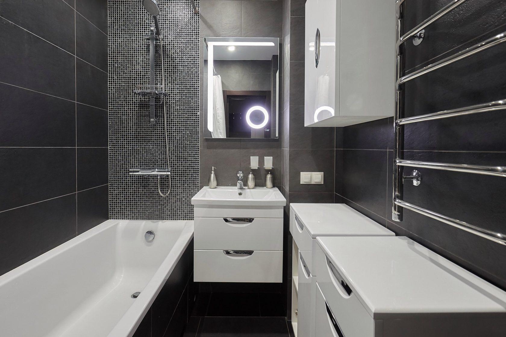 Ванная по дизайн проекту.